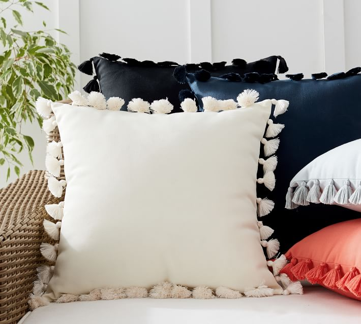 Shop Tassel Trim Indoor/Outdoor Pillows from Pottery Barn on Openhaus