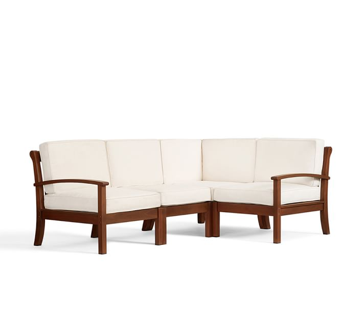 Shop Chatham FSC® Mahogany 4-Piece Sectional, Honey from Pottery Barn on Openhaus