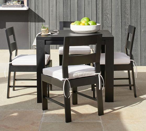 Malibu Metal Square 36 Dining Table Black Pottery Barn