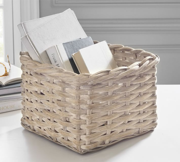 Aubrey Handwoven Basket Collection White Pottery Barn
