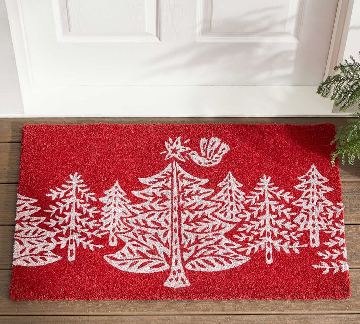 Christmas Tree Forest Doormat Pottery Barn