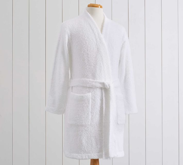 White Dreamy Chenille Robe, Small