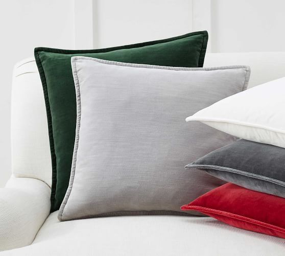 GREY// BROWN VELVET CUSHION COVER New Limited Stock