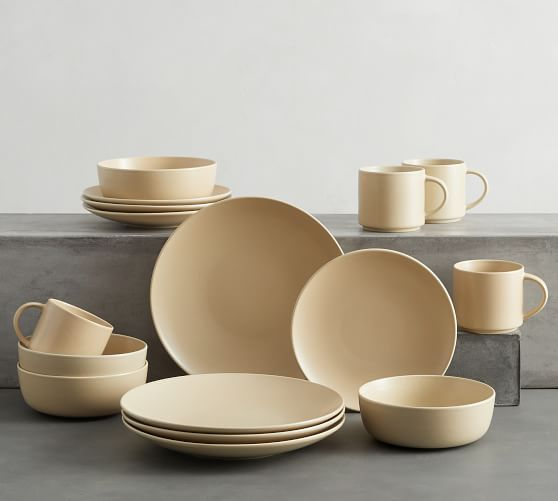 Mason Stoneware 16-Piece Dinnerware Set - Wheat
