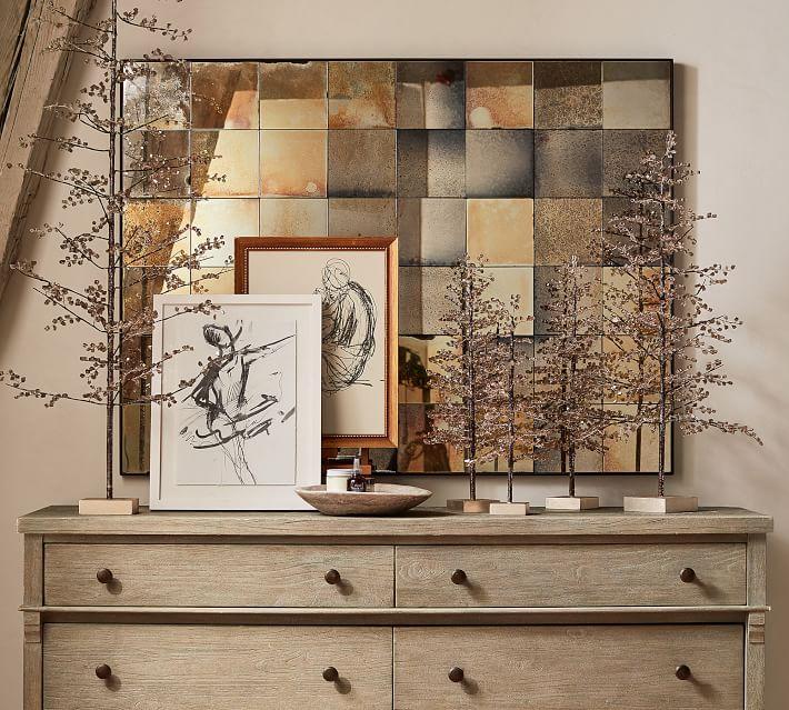 Wyatt Paneled Mirror Art | Wall Decor | Pottery Barn