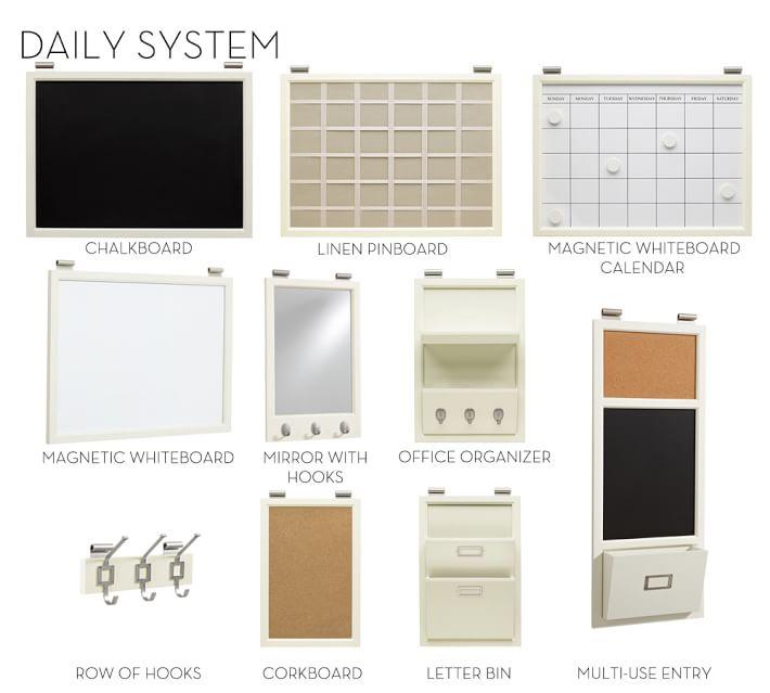 Daily Organization System Creamy White Pottery Barn