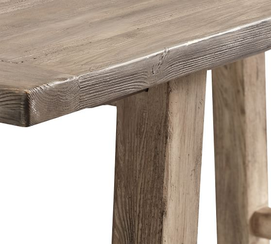 Perfect Pair Bartol Reclaimed Wood Dining Table With Bartol Bench Plymouth Chair Pottery Barn