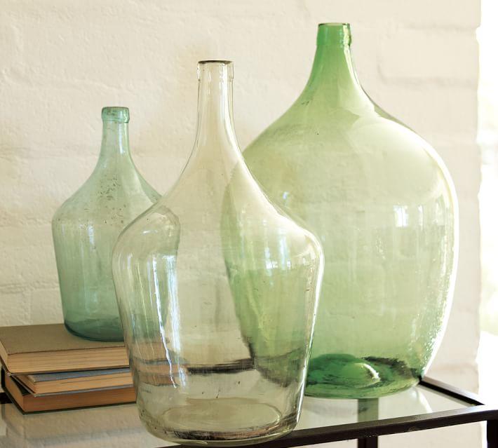 Vintage Glass Wine Bottle Vases Pottery Barn
