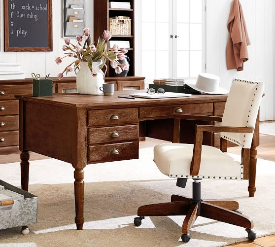 Printer S 64 Keyhole Desk With Drawers Pottery Barn