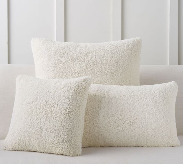 Faux Sheepskin Pillow Covers Pottery Barn