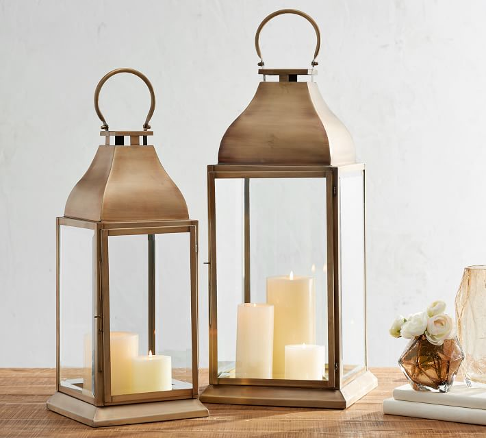 Chester Handmade Brushed Brass Lantern