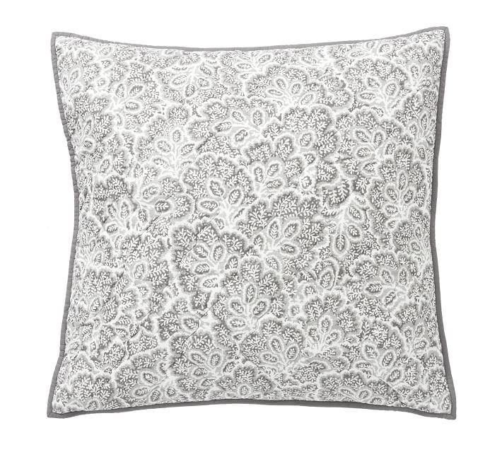 Clio Reversible Pillow Sham Smoke Pottery Barn