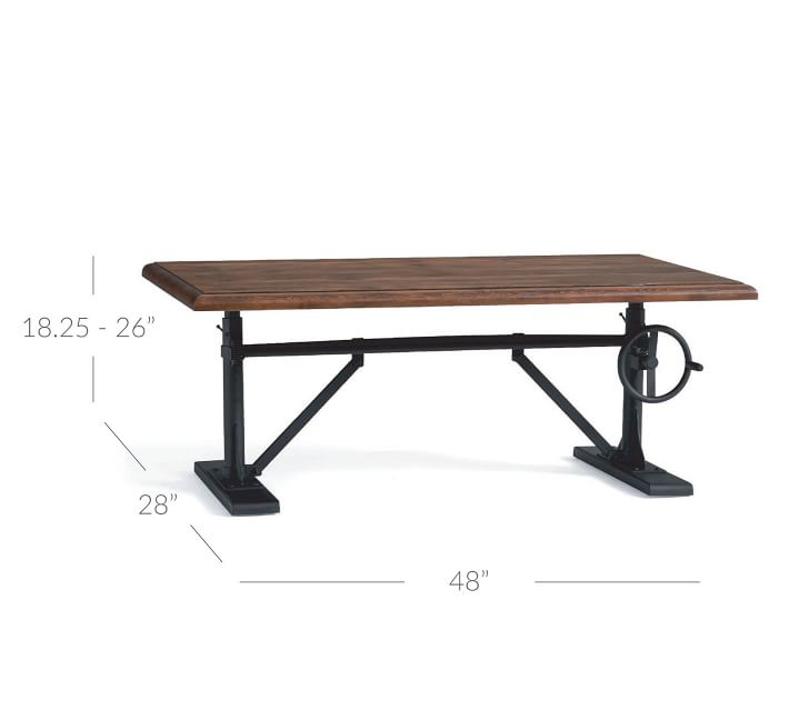 Pittsburgh 48 Quot Crank Coffee Table Pottery Barn