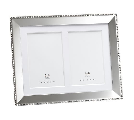 Personalized Silver Plated Beaded Frames Pottery Barn
