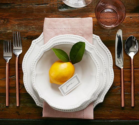 Leila Handcrafted Stoneware 16-Piece Dinnerware Set