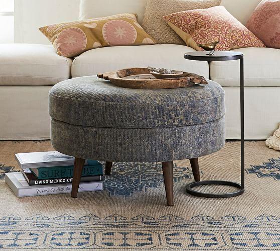 هياج بري حجر Round Fabric Ottoman Cabuildingbridges Org