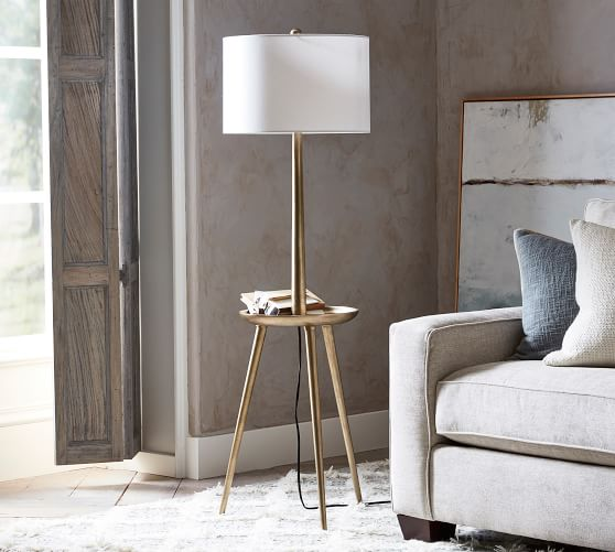 Kinsley Floor Lamp With Tray Pottery Barn
