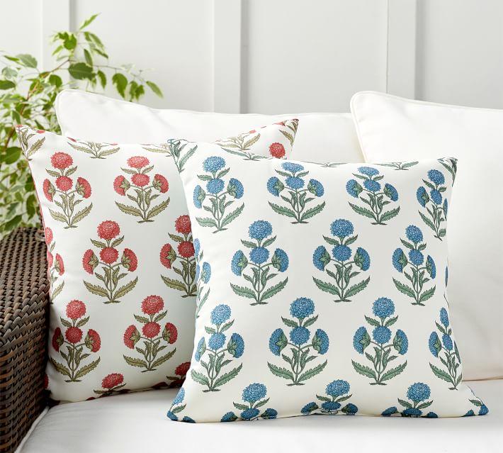 Belinda Floral Printed Indoor Outdoor Pillow Pottery Barn