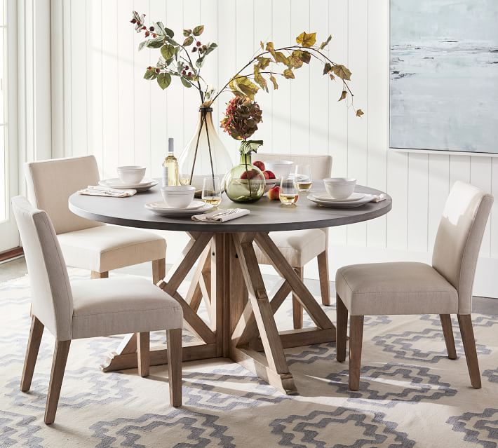 Brooks Round Pedestal Dining Table Pottery Barn