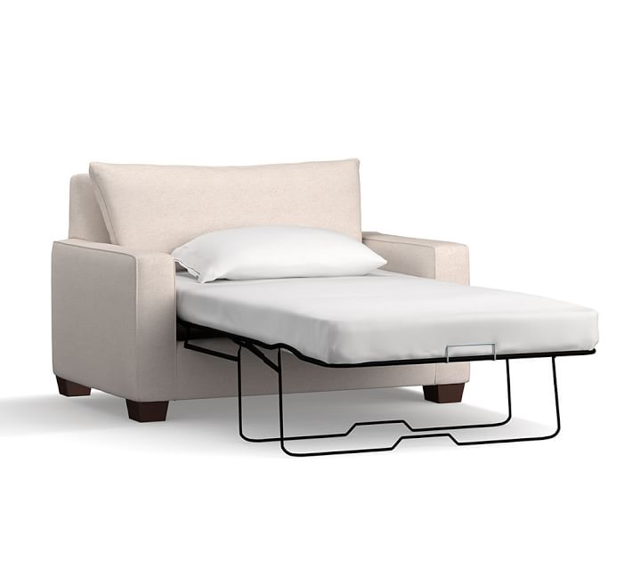 Pb Comfort Square Arm Upholstered Twin Sleeper Sofa With