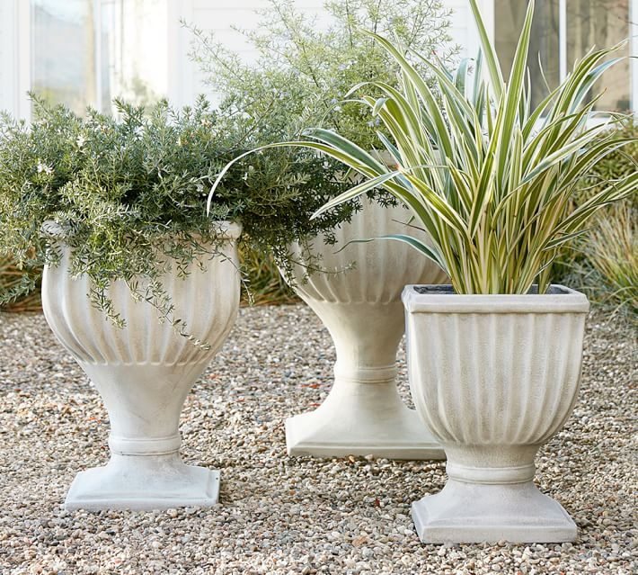 Fluted Urn Planter Pottery Barn