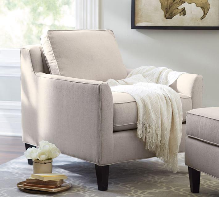 Beverly Upholstered Armchair | Pottery Barn