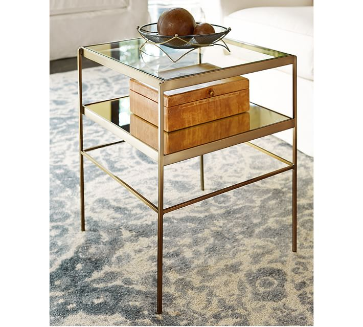 Leona 18 Quot Glass End Table Pottery Barn