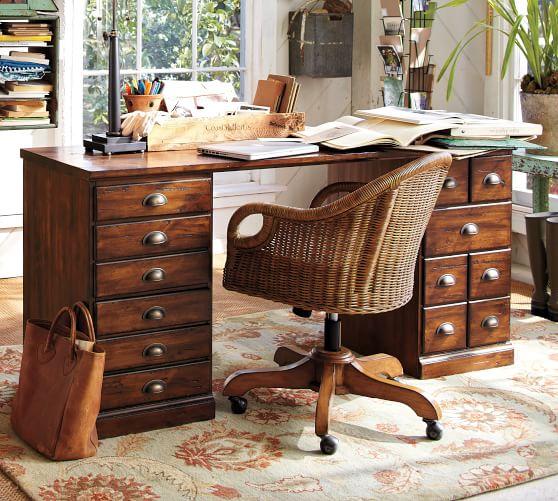 Printer S Rectangular Desk Office Desk Pottery Barn