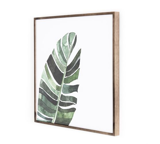 Banana Leaf Botanical Print Framed Wall Art Pottery Barn