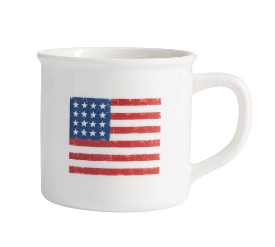 American Flag Coffee Mug Pottery Barn