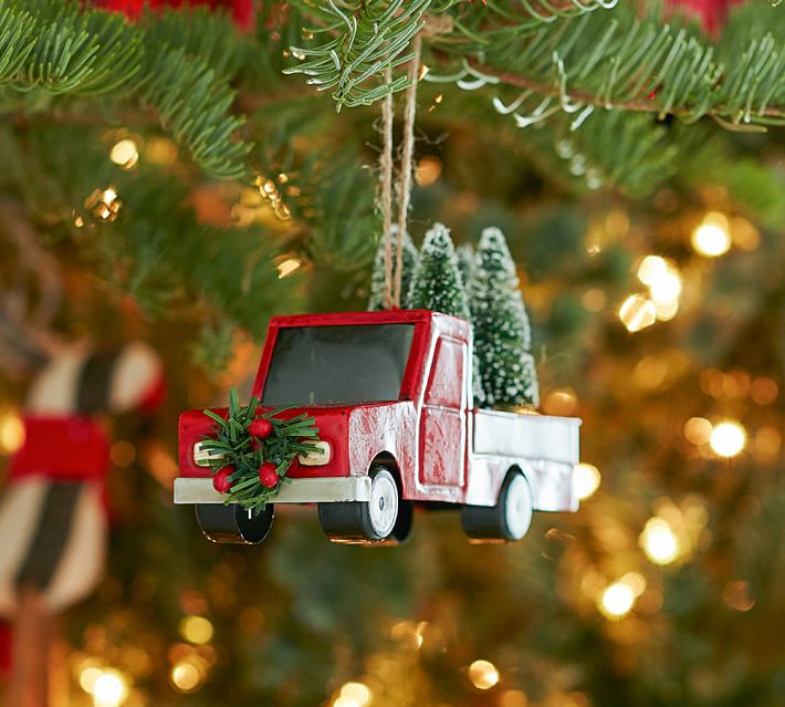 Red Truck Christmas Ornament Pottery Barn
