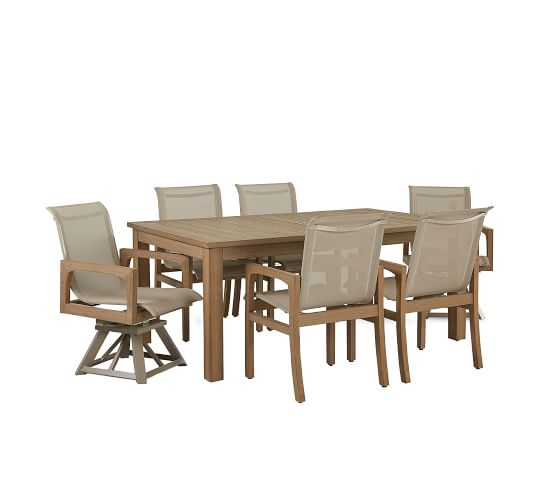 Tropez Faux Teak Dining Chair Set Of 2 Dune Pottery Barn