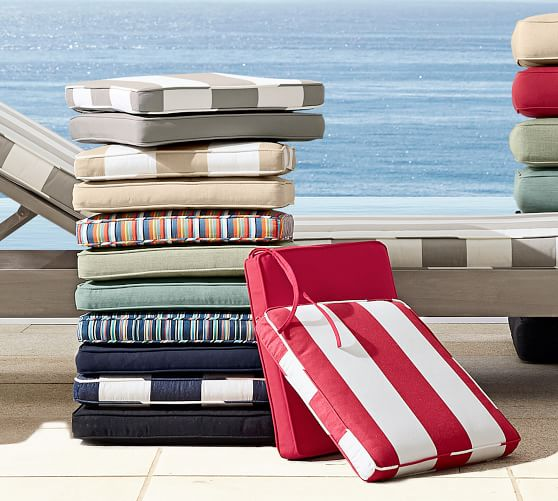 Universal Outdoor Dining Chair Cushions Pottery Barn