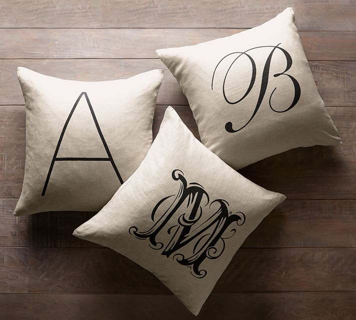 Personalized Alphabet Decorative Pillow Cover Pottery Barn