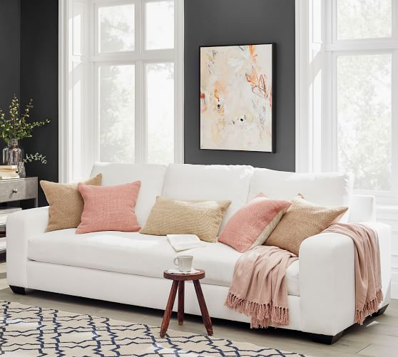 Big Sur Square Arm Fabric Sofa Collection Pottery Barn