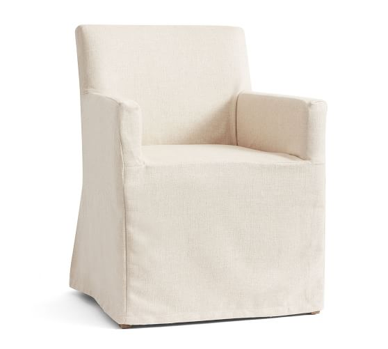 Pb Classic Long Dining Chair Cover Pottery Barn