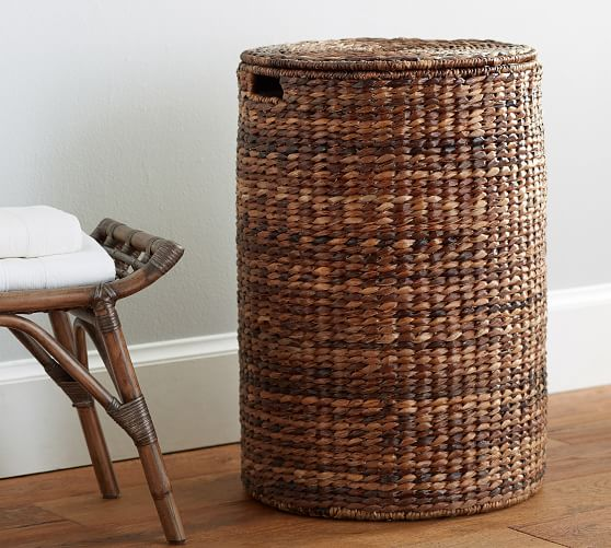 Round Perry Laundry Hamper Pottery Barn