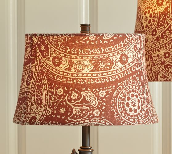 Red Paisley Drum Lamp Shade Pottery Barn