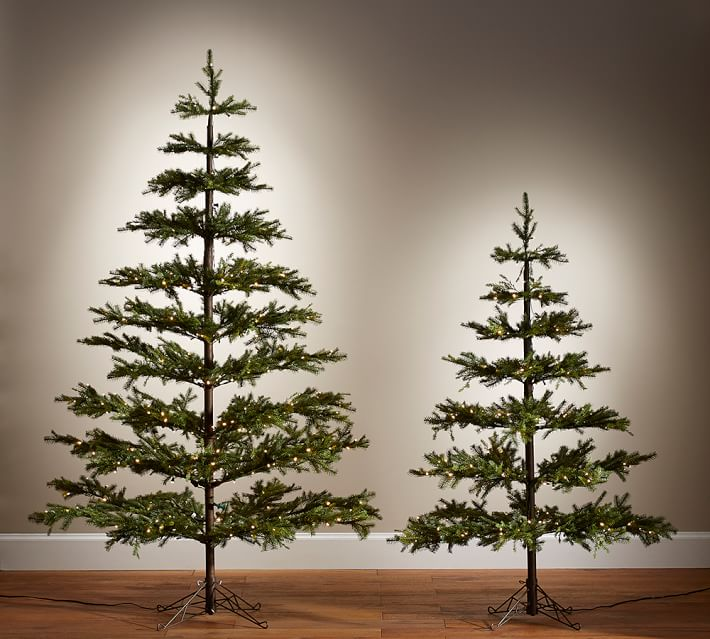 Lit Faux Pine Christmas Trees Pottery Barn