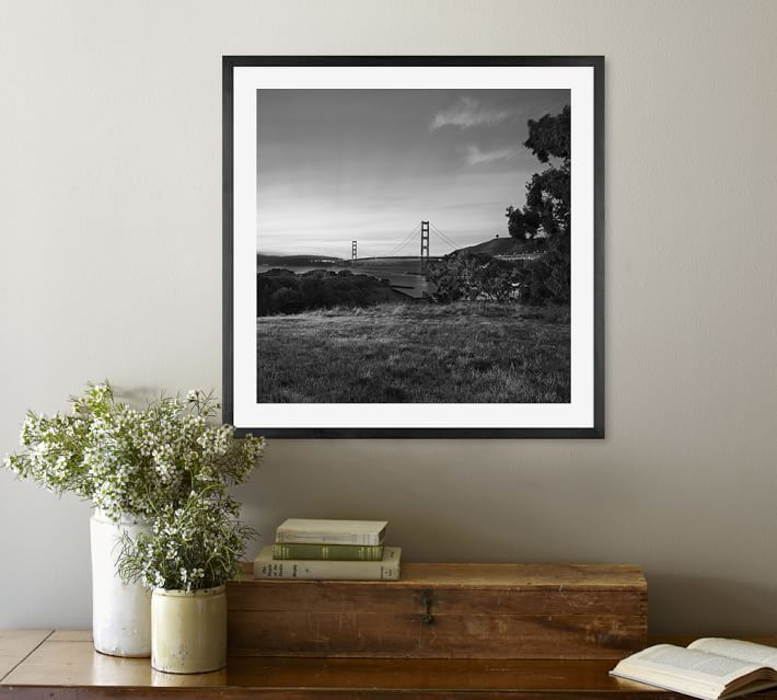 Golden Gate Bridge Framed Print By Michal Venera Pottery