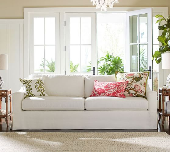 York Slope Arm Furniture Slipcovers Pottery Barn
