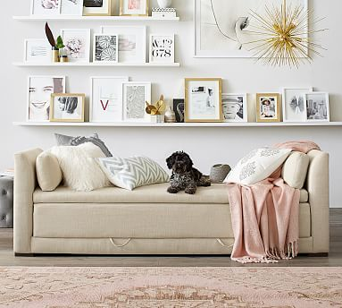 Luna Upholstered Sleeper Sofa Bed Pottery Barn