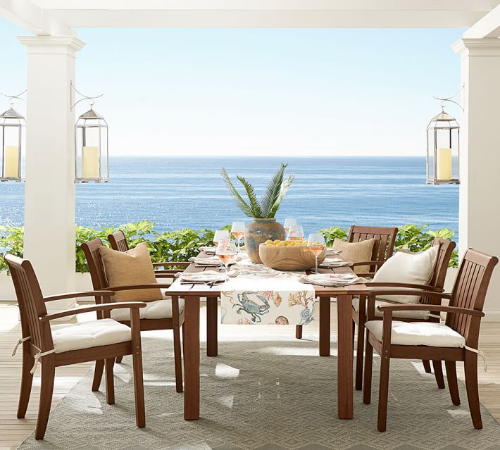 Shop Chatham FSC® Mahogany Extending Dining Table, Honey from Pottery Barn on Openhaus
