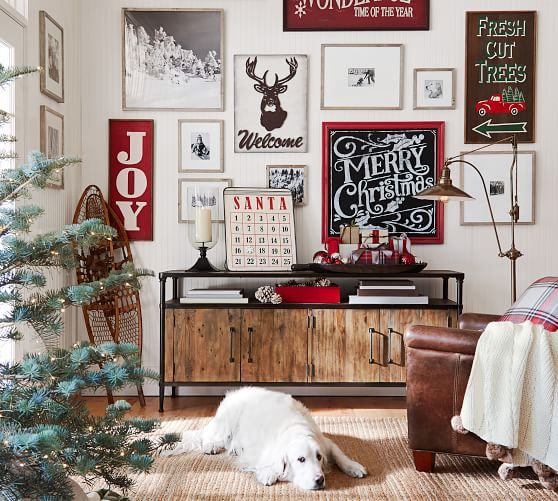 Merry Christmas Chalkboard Wall Decor Pottery Barn