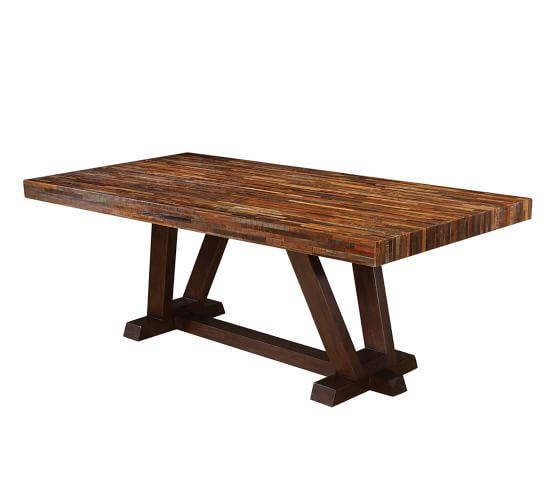 Langton Reclaimed Wood Dining Table Pottery Barn