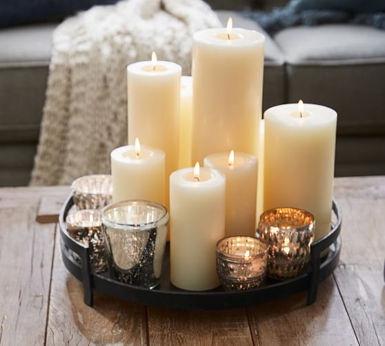 Unscented Wax Pillar Candles Pottery Barn