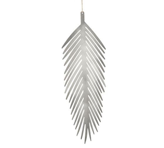 silver metal leaf ornament pottery barn silver metal leaf ornament