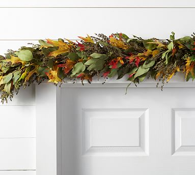 Live Autumn Leaves Garland Pottery Barn
