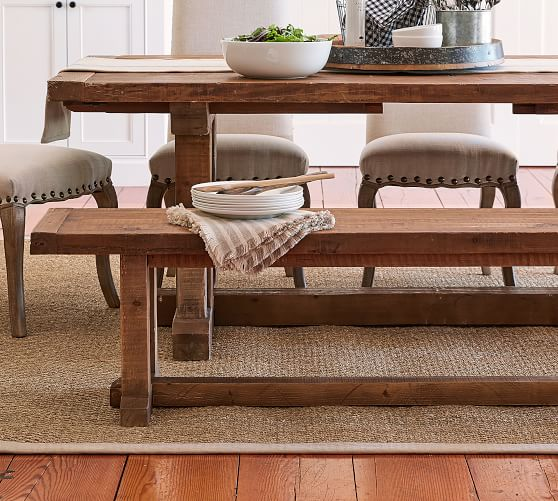 Stafford Reclaimed Wood Dining Bench Pottery Barn