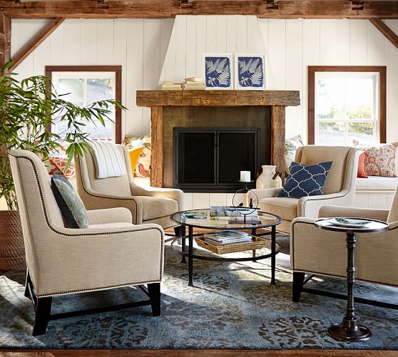 Berkeley Upholstered Armchair | Pottery Barn